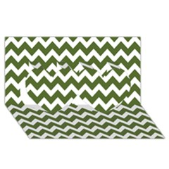 Chevron Pattern Gifts Twin Hearts 3d Greeting Card (8x4)