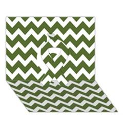Chevron Pattern Gifts Ribbon 3d Greeting Card (7x5)