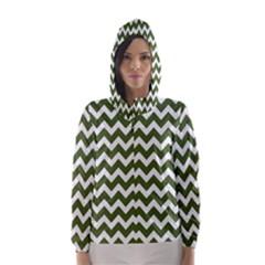 Chevron Pattern Gifts Hooded Wind Breaker (Women)