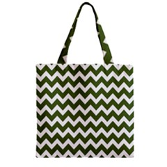 Chevron Pattern Gifts Zipper Grocery Tote Bags