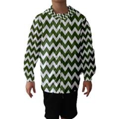 Chevron Pattern Gifts Hooded Wind Breaker (Kids)