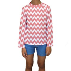 Chevron Pattern Gifts Kid s Long Sleeve Swimwear