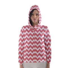 Chevron Pattern Gifts Hooded Wind Breaker (Women)