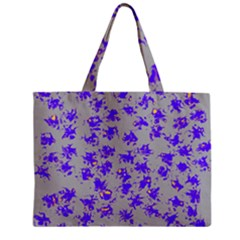 Purple Pattern Zipper Tiny Tote Bags