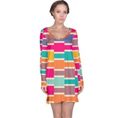 Connected Colorful Rectangles Nightdress