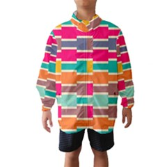 Connected Colorful Rectangles Wind Breaker (kids)