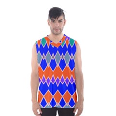Rhombus Chains Men s Basketball Tank Top