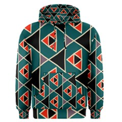 Triangles in retro colors pattern Men s Pullover Hoodie