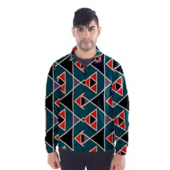 Triangles in retro colors pattern Wind Breaker (Men)