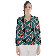 Triangles in retro colors pattern Wind Breaker (Women)
