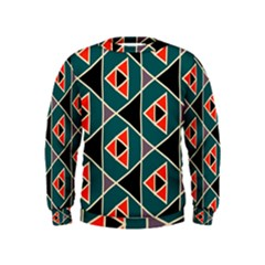 Triangles in retro colors pattern  Kid s Sweatshirt