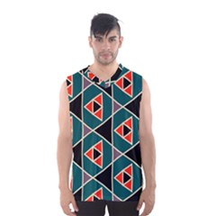 Triangles In Retro Colors Pattern Men s Basketball Tank Top