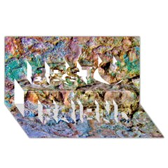 Abstract Background Wall 1 Best Friends 3d Greeting Card (8x4)