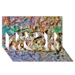Abstract Background Wall 1 Mom 3d Greeting Card (8x4)