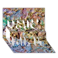 Abstract Background Wall 1 You Did It 3D Greeting Card (7x5)