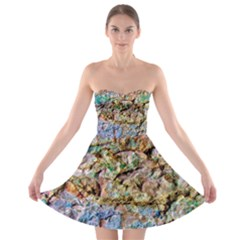 Abstract Background Wall 1 Strapless Bra Top Dress