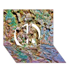 Abstract Background Wallpaper 1 Peace Sign 3D Greeting Card (7x5)
