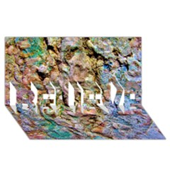 Abstract Background Wallpaper 1 BELIEVE 3D Greeting Card (8x4)