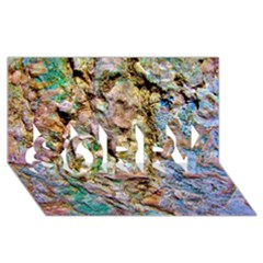 Abstract Background Wallpaper 1 Sorry 3d Greeting Card (8x4)