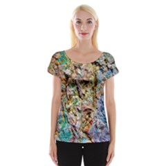 Abstract Background Wallpaper 1 Women s Cap Sleeve Top