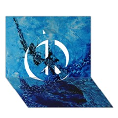 Rockscape Peace Sign 3d Greeting Card (7x5)