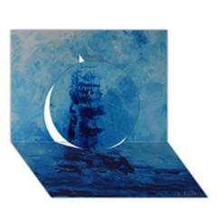 Lost At Sea Circle 3D Greeting Card (7x5)