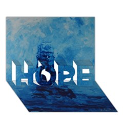 Lost At Sea Hope 3d Greeting Card (7x5)