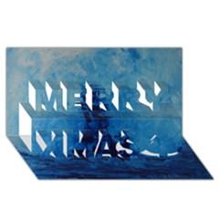 Lost At Sea Merry Xmas 3d Greeting Card (8x4)