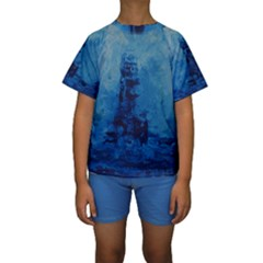 Lost At Sea Kid s Short Sleeve Swimwear