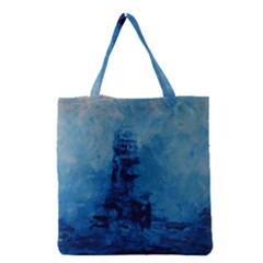 Lost At Sea Grocery Tote Bags