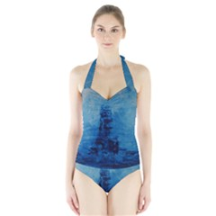 Lost At Sea Women s Halter One Piece Swimsuit