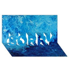 Waves Sorry 3d Greeting Card (8x4)