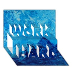 Waves WORK HARD 3D Greeting Card (7x5)