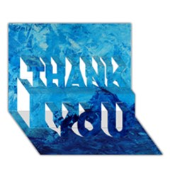 Waves Thank You 3d Greeting Card (7x5)