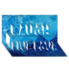 Waves Laugh Live Love 3D Greeting Card (8x4)