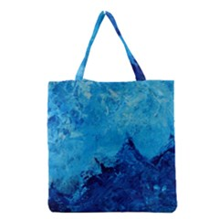 Waves Grocery Tote Bags