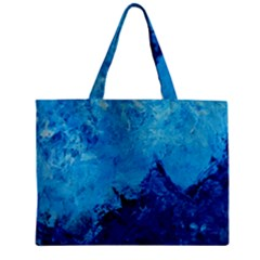 Waves Zipper Tiny Tote Bags