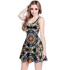 Stainted glass Large Reversible Sleeveless Dress