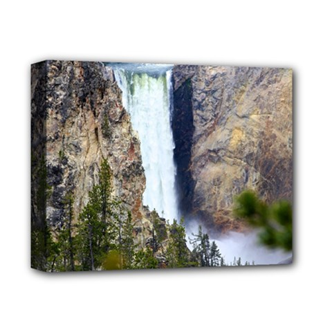 YELLOWSTONE WATERFALL Deluxe Canvas 14  x 11