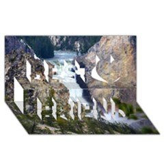 YELLOWSTONE WATERFALL Best Friends 3D Greeting Card (8x4)