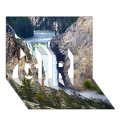 YELLOWSTONE WATERFALL GIRL 3D Greeting Card (7x5)