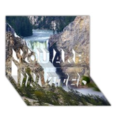 YELLOWSTONE WATERFALL YOU ARE INVITED 3D Greeting Card (7x5)
