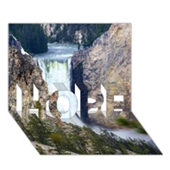 Yellowstone Waterfall Hope 3d Greeting Card (7x5)