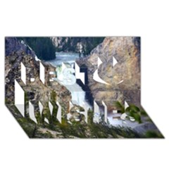 Yellowstone Waterfall Best Wish 3d Greeting Card (8x4)