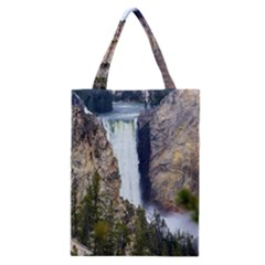 Yellowstone Waterfall Classic Tote Bags