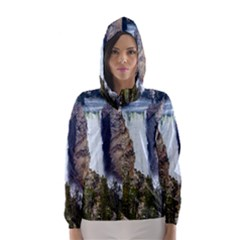 YELLOWSTONE WATERFALL Hooded Wind Breaker (Women)