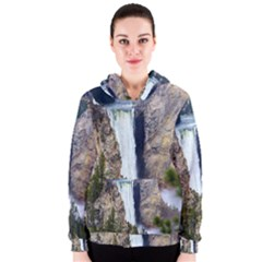 Yellowstone Waterfall Women s Zipper Hoodies
