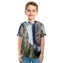 YELLOWSTONE WATERFALL Kid s Sport Mesh Tees