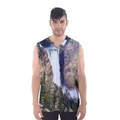 YELLOWSTONE WATERFALL Men s Basketball Tank Top
