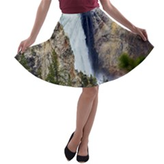 YELLOWSTONE WATERFALL A-line Skater Skirt